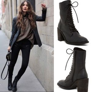 NWOT Jeffrey Campbell // Lace-up Leather Boot